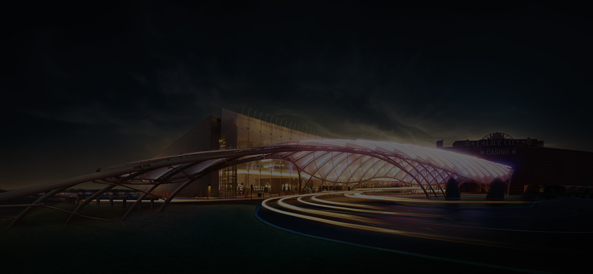 Artists rendering of traffic moving through the valet entrance